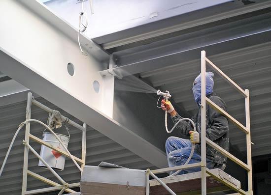 Огнезащита металла от прямого огня и высоких температур металлических строительных конструкций