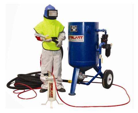 Применение оборудования для пескоструйной очистки